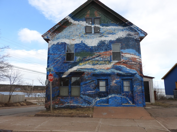 painted house, parrsboro, Nova Scotia