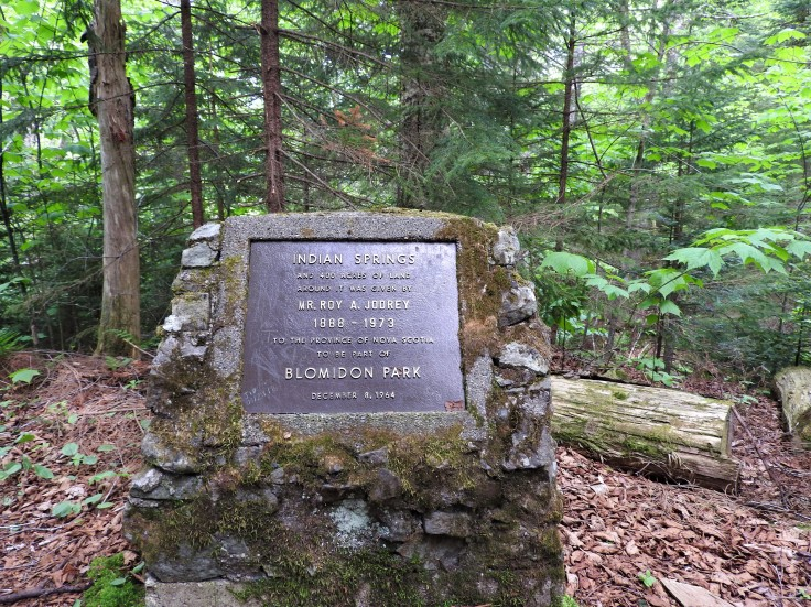 Monument recognizing the Mr Roy Jodrey donation of this land