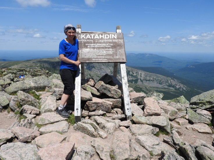 Me at the sign at the peak of Katahdin