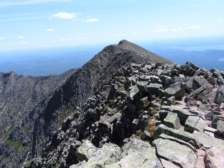 The knifes edge Top of Katahdin