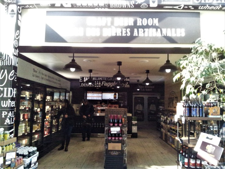 New Brunswick liquor store in Fredericton, craft brewery room